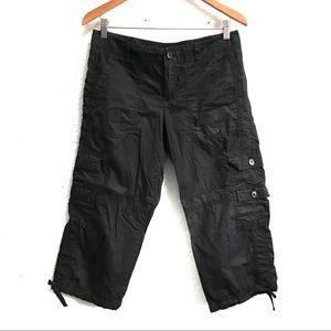 LOFT Gray Cargo Utility Cropped Cotton Pants Sz 4